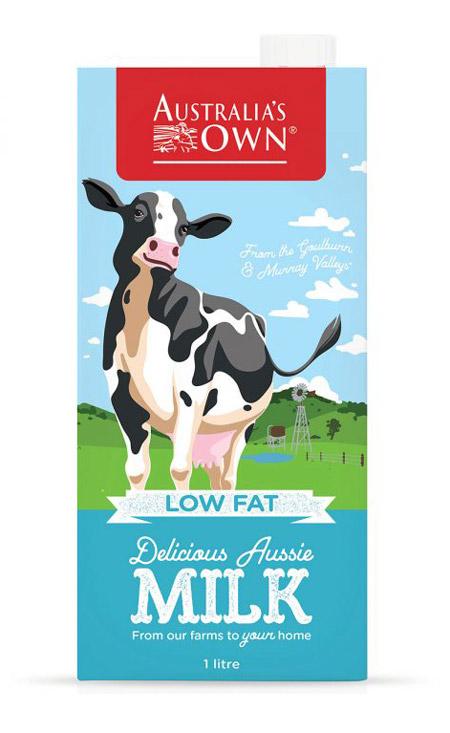 Sữa tươi tiệt trùng ít béo Australia's Own Low Fat Milk 1L